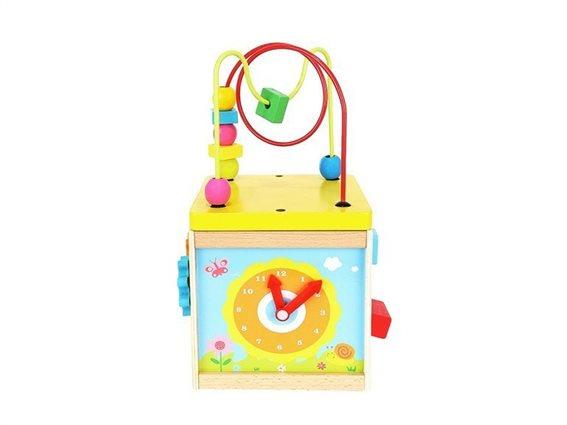 Aria Trade Εκπαιδευτικό Κουτί 5 σε 1 με Σχήματα και ρολόι, 17x17x30 cm