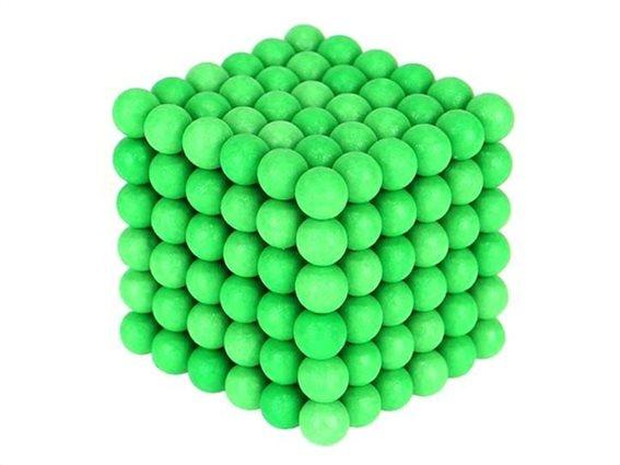 Aria Trade Μαγνητικές Μπάλες Μικρά Σφαιρίδια 5mm 216 τεμαχίων σε πράσινο χρώμα που φωσφορίζει
