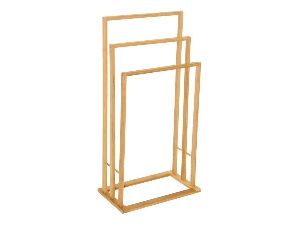 Bamboo Ξύλινη Κρεμάστρα Δαπέδου με 3 θέσεις για Πετσέτες Μπάνιου από ξύλο Μπαμπού, 42x24x81.5 cm