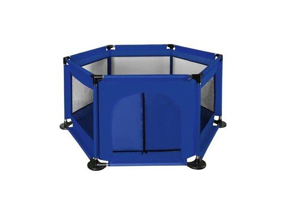 Aria Trade Παιδικό πάρκο σκηνή για παιχνίδι σε εξάγωνο σχήμα σε μπλε χρώμα, 125x110x65 cm