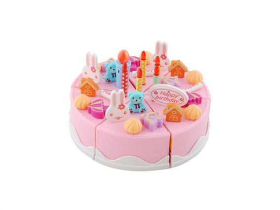 Σετ Παιχνίδι Τούρτα Γενεθλίων 75 τεμαχίων με φωτισμό και ήχο, Cutting birthday cake set