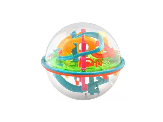Aria Trade Παιχνίδι 3D μπάλα λαβύρινθος με μπαλίτσες με 138 εμπόδια, 18x18cm