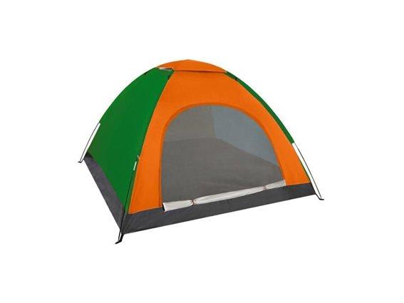 Aria Trade Pop-up Camping Σκηνή 3 Εποχών 4 Ατόμων 190x190x123cm Πορτοκαλί
