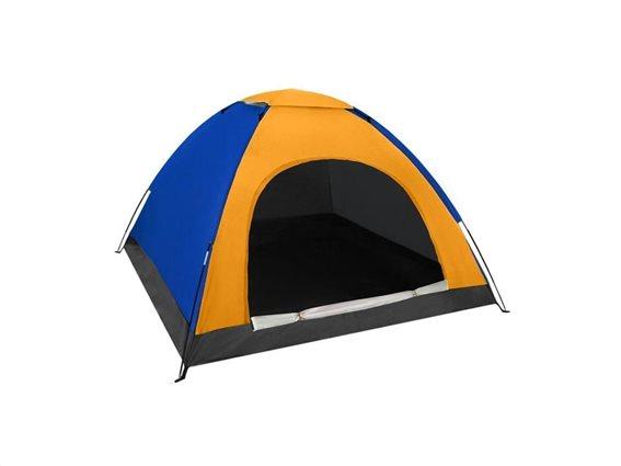 Aria Trade Pop-up Camping Σκηνή 3 Εποχών 4 Ατόμων 190x190x123cm Κίτρινη