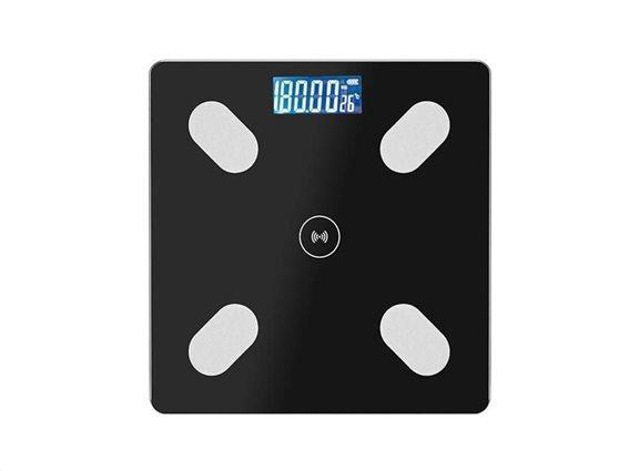 Aria Trade Ψηφιακή Ζυγαριά με Λιπομετρητή & Bluetooth AT857 Μαύρη 180kg