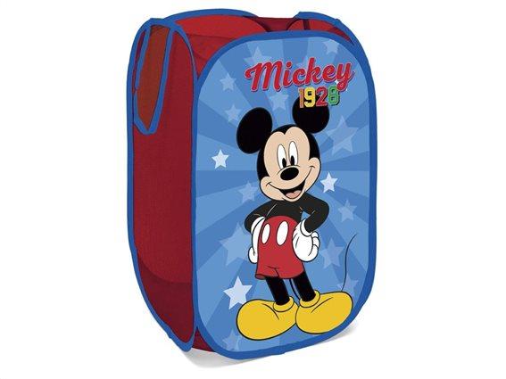 Aria Trade Καλάθι Αποθήκευσης Παιχνιδιών Υφασμάτινο Mickey 36x36x58cm