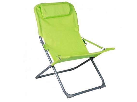 Πτυσσόμενη Καρέκλα Πολυθρόνα Παραλίας 4 θέσεων σε πράσινο χρώμα, 88x64x84 cm