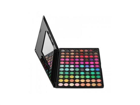 Aria Trade Παλέτα Σκιών με Καθρέφτη 252 Αποχρώσεις Mat και Glossy Eyeshadow Palette