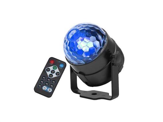 Aria Trade Ντισκομπάλα 360° με Φωτισμό LED και Τηλεχειριστήριο, 9x14 cm