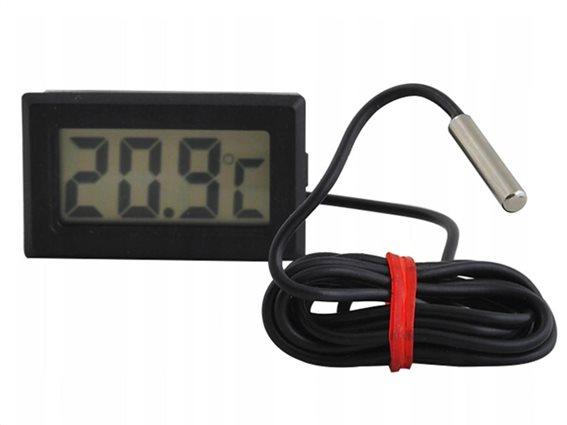 Ψηφιακό Θερμόμετρο Ενυδρείου με οθόνη LCD και καλώδιο μήκους 1m, 4.8x1.5x2.8 cm