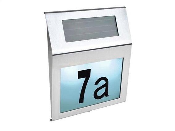 Ηλιακό Φωτιστικό Εξωτερικού Χώρου για Αριθμό Οικίας, 18x20x2.8 cm