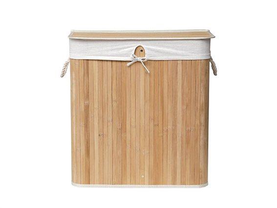 Aria Trade Καλάθι Απλύτων Bamboo 52x32x60cm 8308 Καφέ
