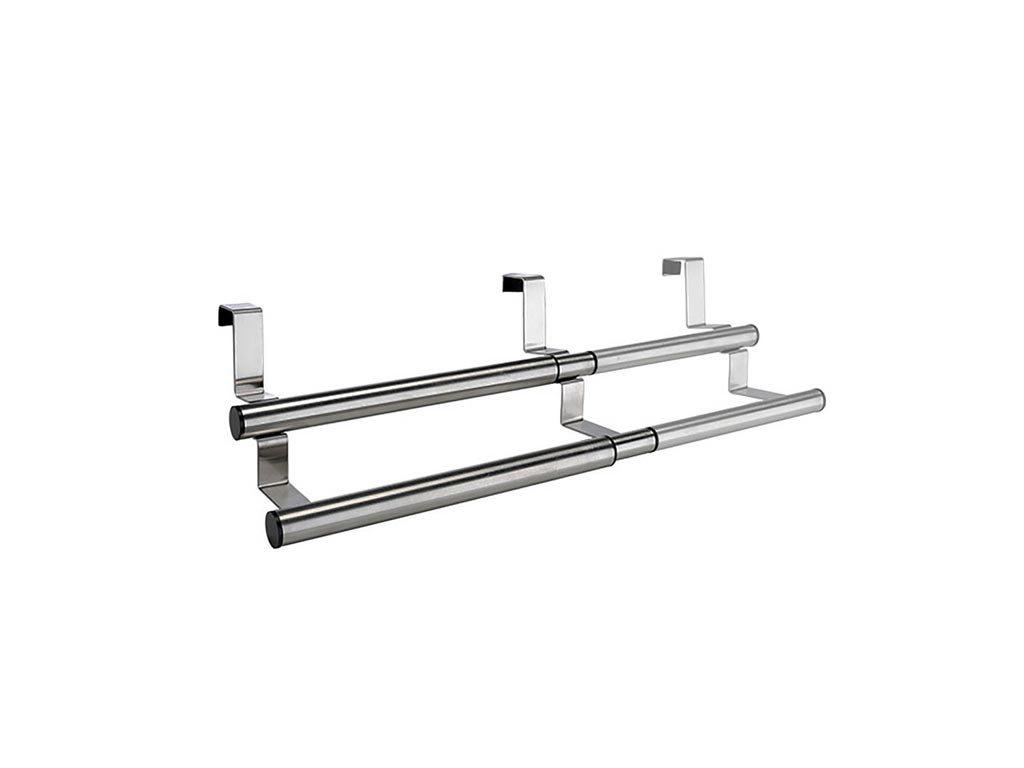 Επεκτεινόμενη Κρεμάστρα για ντουλάπια κουζίνας και μπάνιου από Ανοξείδωτο Ατσάλι, 25-40x17.5x12 cm