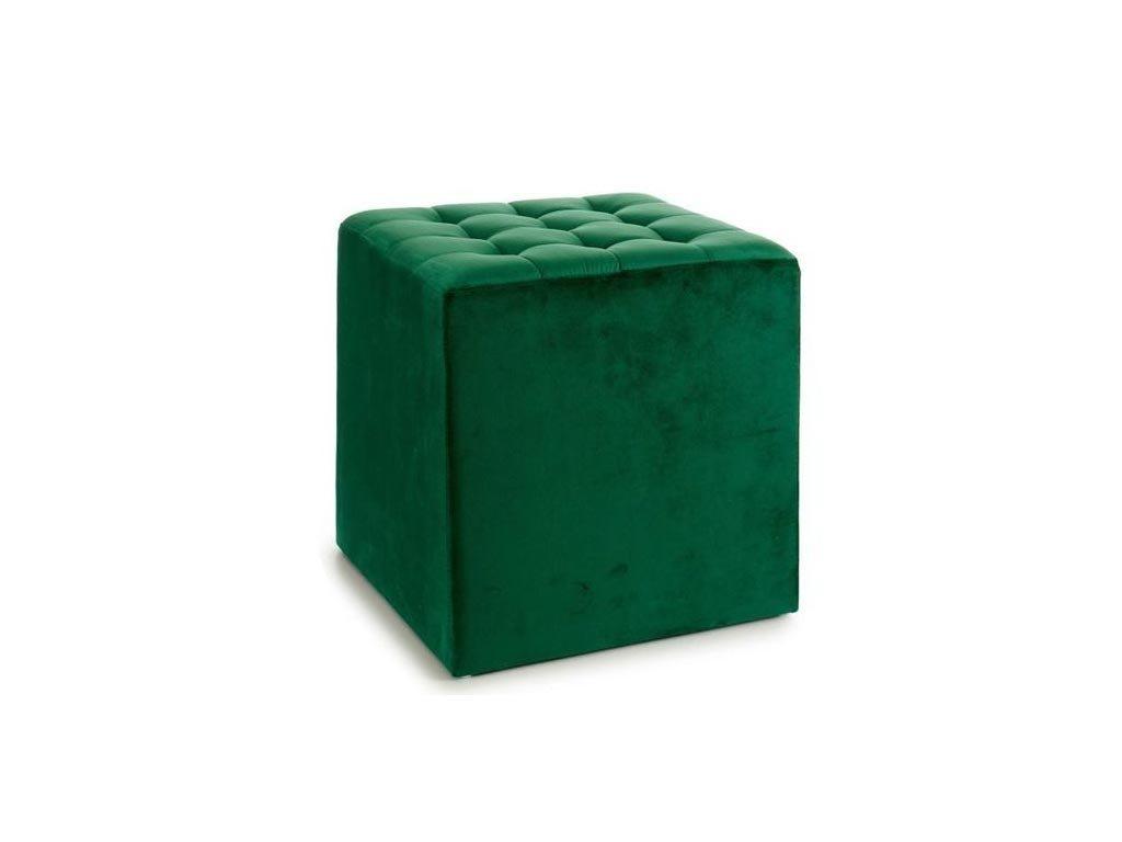 Βελούδινο Σκαμπό σε πράσινο χρώμα, 45x45x45 cm, Velvet green
