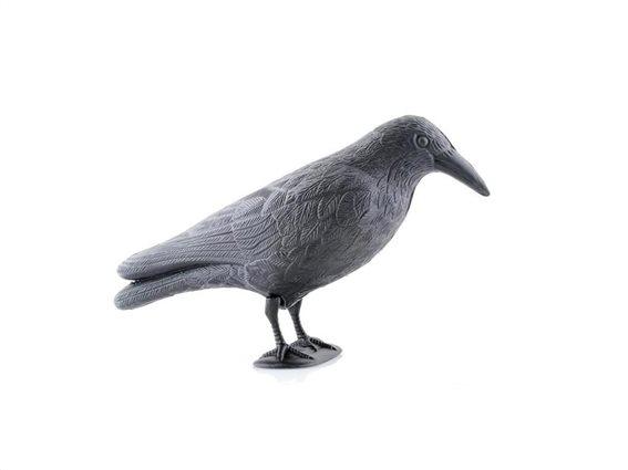 Απωθητικό πτηνών ομοίωμα κοράκι με άγκιστρο σε γκρι χρώμα, 40x20x13 cm, Raven Scarecrow