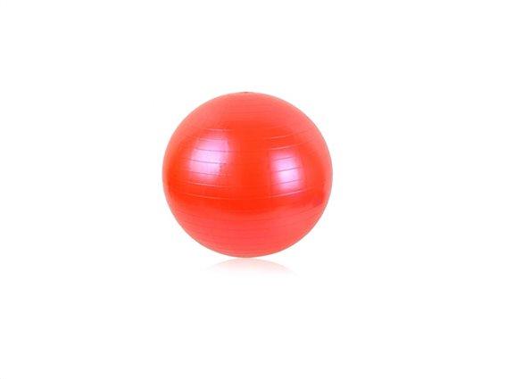 Φουσκωτή μπάλα γυμναστικής για Yoga και Pilates διαμέτρου 65cm, Fitness Ball Κόκκινο