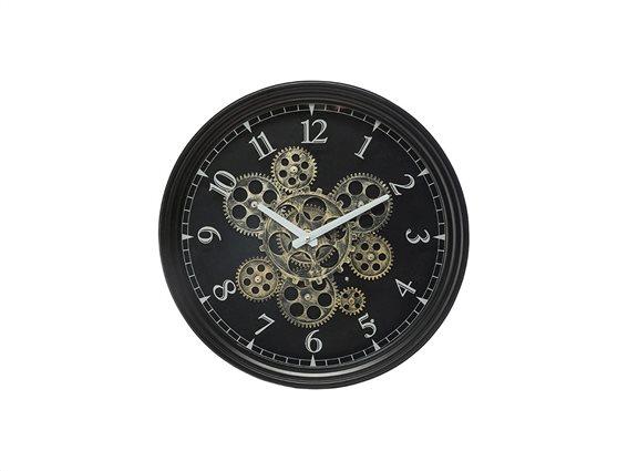 Αναλογικό ρολόι τοίχου κατάλληλο για διακόσμηση με διάμετρο 37 cm