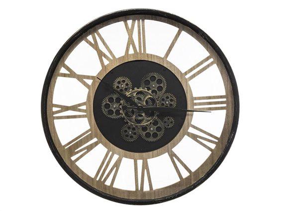 Αναλογικό ρολόι τοίχου κατάλληλο για διακόσμηση με διάμετρο 57 cm