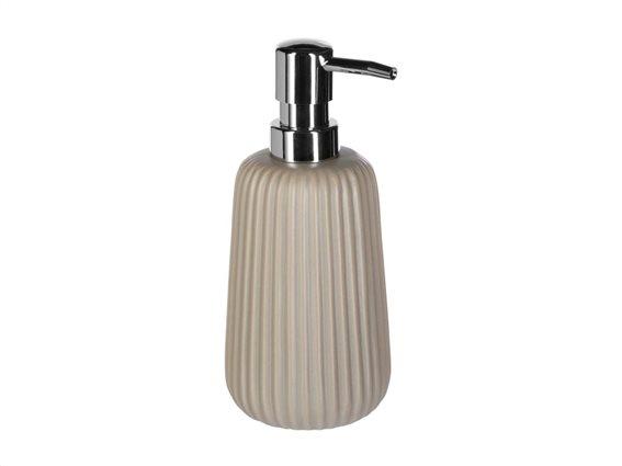 Διανεμητής Σαπουνιού Soap Dispenser με αντλία σε γκρι χρώμα, 9x9x18 cm