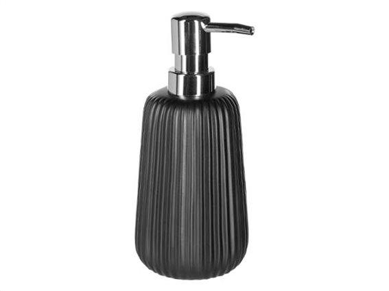 Διανεμητής Σαπουνιού Soap Dispenser με αντλία σε μαύρο χρώμα, 9x9x18 cm