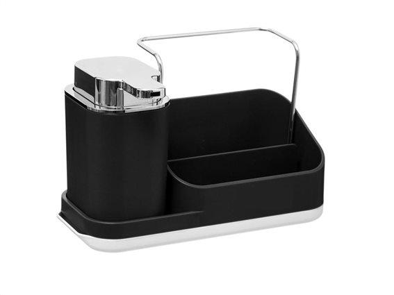 Aria Trade Επιτραπέζιο Dispenser Κουζίνας Πλαστικό 169131A Μαύρο