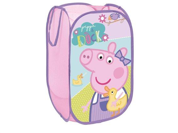 Aria Trade Καλάθι Αποθήκευσης Παιχνιδιών Υφασμάτινο Peppa Pig 36x36x58cm