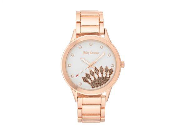 Juicy Couture Γυναικείο Ρολόι Αναλογικό, 38mm με μπρασελέ-κούμπωμα ασφαλείας, JC/1126WTRG