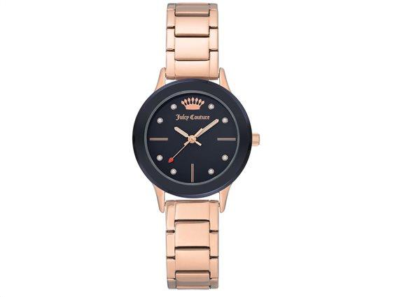 Juicy Couture Γυναικείο Ρολόι Αναλογικό, 31mm με μπρασελέ-κούμπωμα ασφαλείας,  JC/1050NVRG