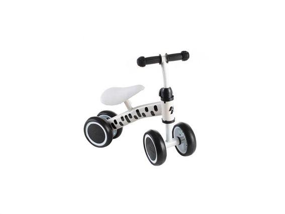 Παιδικό πατίνι ισορροπίας με 4 τροχούς, σε λευκό χρώμα, για παιδιά από 1-3 ετών, 42x46x19cm