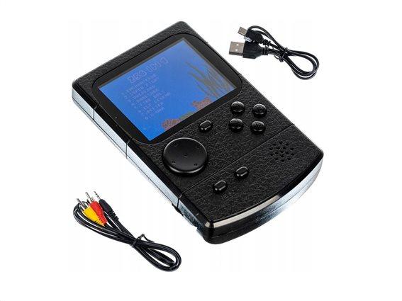 Μίνι Φορητή Κονσόλα Παιχνιδομηχανή με 256 Παιχνίδια, 2.5x8x12 cm, Mini Game Console