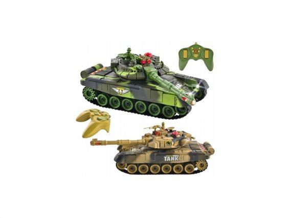Σετ Τηλεκατευθυνόμενα Τανκς 1:14 4 τεμαχίων με τηλεχειριστήρια, Remote controlled tanks