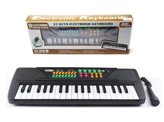 Παιδικό Αρμόνιο Synthesizer 37 Πλήκτρων με Μικρόφωνο και Ραδιόφωνο, 40x15x4.5 cm