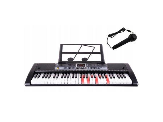 Παιδικό Αρμόνιο 61 Πλήκτρων με φωτισμό και μικρόφωνο, 25x81x25 cm, Electronic keyboard