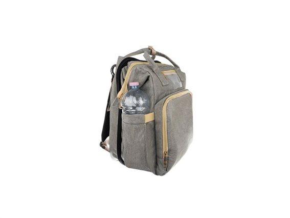 Aria Trade Τσάντα - Αλλαξιέρα Πλάτης 3-σε-1 Γκρι