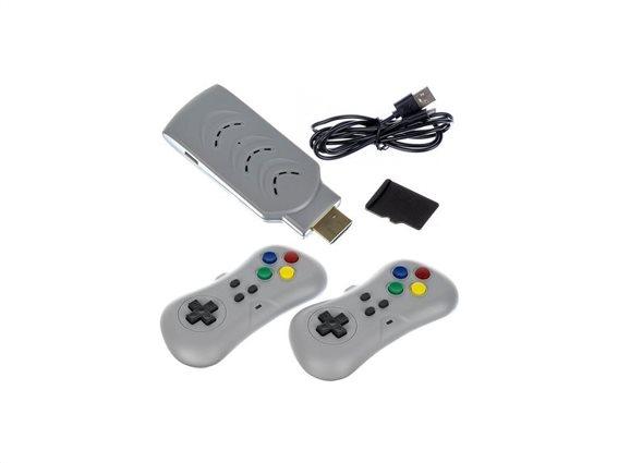 Retro παιχνιδοκονσόλα με σύνδεση HDMI στην τηλεόραση, 200 παιχνίδια και 2 τηλεχειριστήρια
