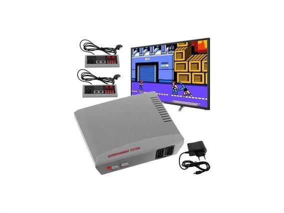 Retro παιχνιδοκονσόλα με σύνδεση AV στην τηλεόραση, 256 παιχνίδια και 2 τηλεχειριστήρια
