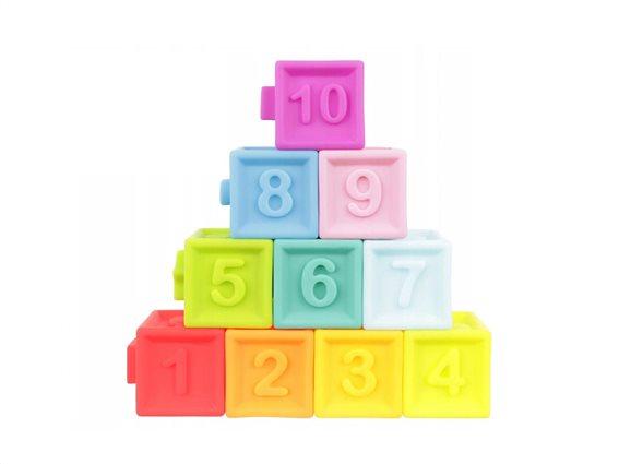 Σετ Παιδικοί Πολύχρωμοι Κύβοι 10 τεμαχίων, Baby blocks