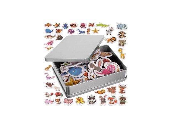 Σετ Μαγνητάκια Ψυγείου 42 τεμαχίων με σχέδια ζωάκια, Fridge magnets