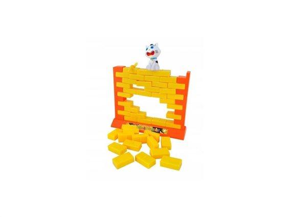 Επιτραπέζιο Παιχνίδι Τοίχος με τουβλάκια, 15.5x19x5.8 cm, Wall game