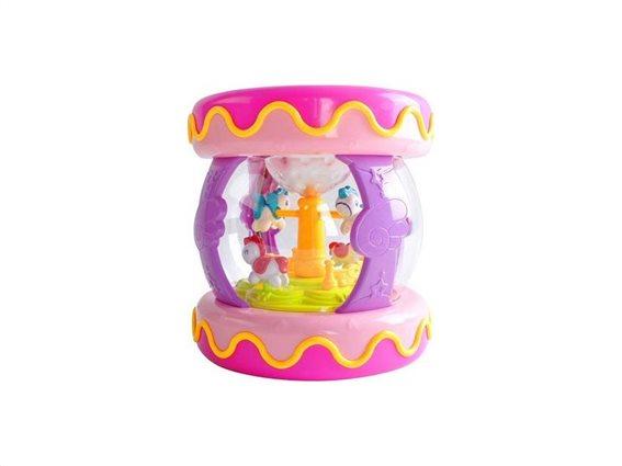 Παιδικό Καρουζέλ μουσικό κουτί με ήχους και φωτισμό, 16.5x16.5x17.5cm