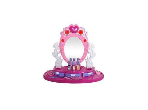 Παιδική τουαλέτα ομορφιάς μπουντουάρ με περιστρεφόμενο καθρέφτη, 45x40cm