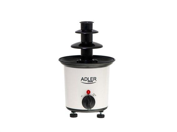 Adler Συσκευή για φοντύ σοκολάτας,  30W, σε λευκό χρώμα, 15x15x24 cm, AD-4487