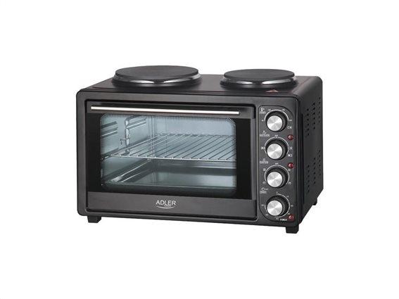 Adler Ηλεκτρικό Κουζινάκι με 2 Εστίες Μαγειρέματος 2500W Adler AD 6020