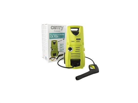 Επαγγελματικό πιεστικό πλυστικό μηχάνημα, 2200 Watt, 130 bar, με ροδάκια μεταφοράς, Camry, CR-7026