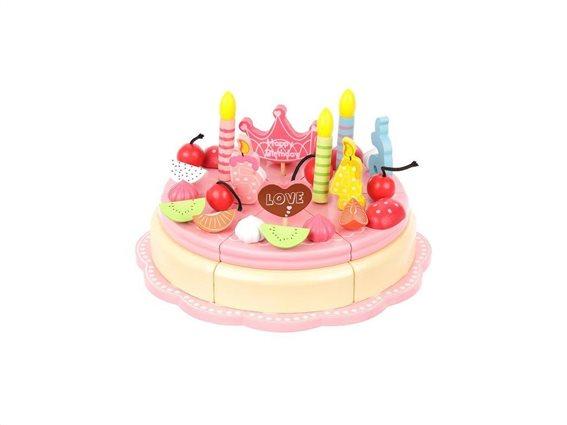 Σετ Παιχνίδι Τούρτα Γενεθλίων 48 τεμαχίων με πιάτα σερβιρίσματος, Cutting birthday cake set