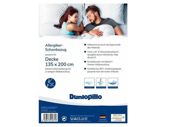 Dunlopillo Μονή Παπλωματοθήκη, Προστατευτικό παπλώματος, 135x200cm