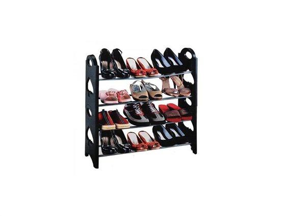 Παπουτσοθήκη stand με 4 σειρές αποθήκευσης για εως 12 ζευγάρια παπούτσια, 65x20x65 cm, Shoe rack