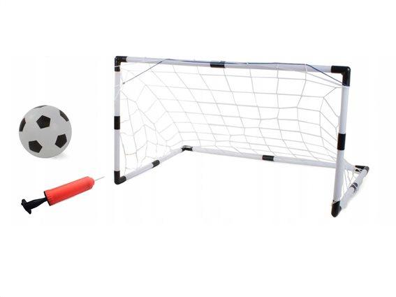 Σετ Τέρμα Ποδοσφαίρου 2 σε 1με μπάλα και τρόμπα, Football training set