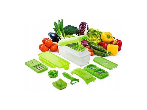 Πολυκόφτης Φρούτων Και Λαχανικών Με Λεπίδες Από Ανοξείδωτο Ατσάλι Vegetable Slicer