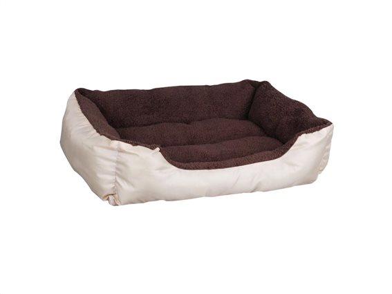 Κρεβάτι σκύλου και άλλων κατοικιδίων σε δύο χρώματα, 56x45x15 cm, Pet bed Μπεζ